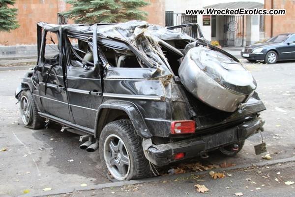 2008 Mercedes G55 Amg Wrecked Yerevan Armenia
