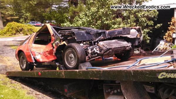 1981 Delorean Dmc 12 Wrecked Maryland Usa