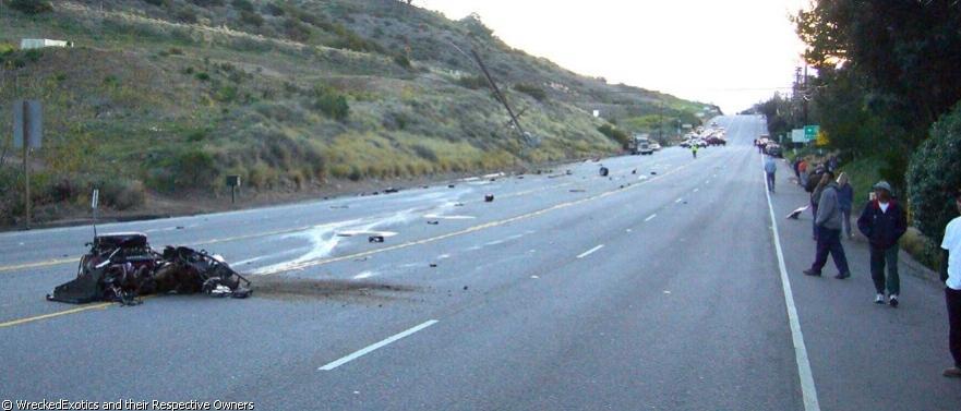 Ferrari Accident in Malibu 4