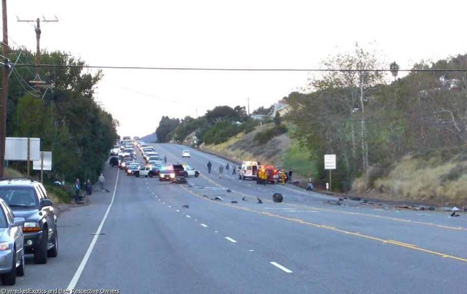 Ferrari Accident in Malibu 3